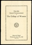 Commencement 1925 The College of Wooster