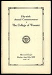 Commencement 1926 The College of Wooster