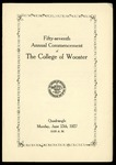 Commencement 1927 The College of Wooster