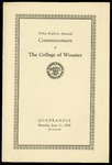 Fifty-Eighth Annual Commencement of The College of Wooster