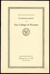 Commencement 1929 The College of Wooster