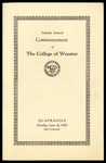Commencement 1930 The College of Wooster
