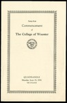 Commencement 1931 The College of Wooster