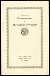 Commencement 1932 The College of Wooster