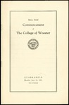 Commencement 1933 The College of Wooster