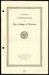 Commencement 1934 The College of Wooster