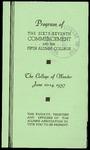 Schedule of Events 1937