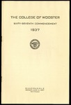 The College of Wooster Sixty-Seventh Commencement 1937
