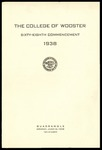 The College of Wooster Sixty-Eighth Commencement 1938