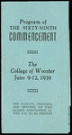 Program of the Sixty-Ninth Commencement