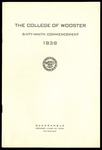 Commencement 1939 The College of Wooster