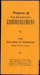 Program of The Seventieth Commencement