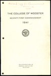 The College of Wooster Seventy-First Commencement