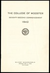 Commencement 1942 The College of Wooster