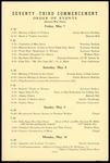 Seventy-Third Commencement Order of Events