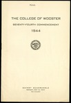 The College of Wooster Seventy-Fourth Commencement