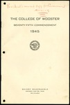 Commencement 1945 The College of Wooster