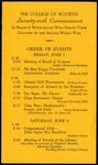 Schedule of Events 1946
