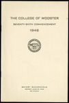 The College of Wooster Seventy-Sixth Commencement 1946