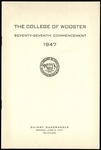 The College of Wooster Seventy-Seventh Commencement 1947