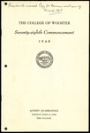 The College of Wooster Seventy-eighth Commencement 1948