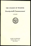 Commencement 1949 The College of Wooster