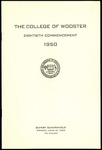 Commencement 1950 The College of Wooster