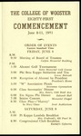 Schedule of Events 1951