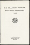 The College of Wooster Eighty-Second Commencement 1952