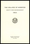 Commencement 1953 The College of Wooster
