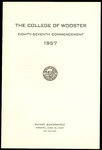 The College of Wooster Eighty-Seventh Commencement 1957