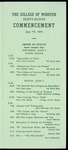 Schedule of Events 1958