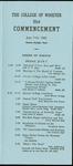Schedule of Events 1963