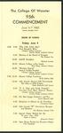 Schedule of Events 1965