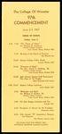 Schedule of Events 1967