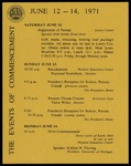 Schedule of Events 1971