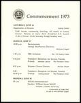 Schedule of Events 1973