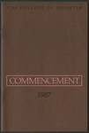Commencement 1987 The College of Wooster