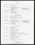 Revised Schedule of Events 2014