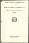 Commencement 1951 The College of Wooster