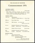 The College of Wooster Commencement 1976