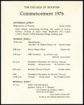 Schedule of Events 1976