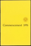 Commencement 1976 The College of Wooster