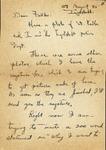 Letter from Ingolstadt, 1945 August 27