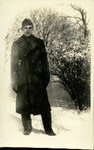 Photograph of Davis in Snow, 1945 ca.