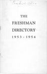 New Student Directory, 1953-1954