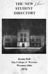New Student Directory, 1976-1977