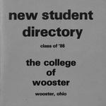 New Student Directory, 1982-1983