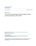 Tree Ring Dating Analysis of the Eliza James House and Barn, Somerset, Ohio 43783
