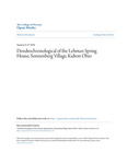 Dendrochronological of the Lehman Spring House, Sonnenberg Village, Kidron Ohio